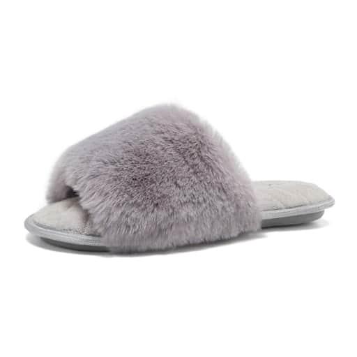 Faux Fur Slippers - high school graduation gift ideas