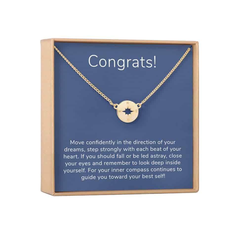 Grad Gift Necklace - keepsake graduation gifts for her