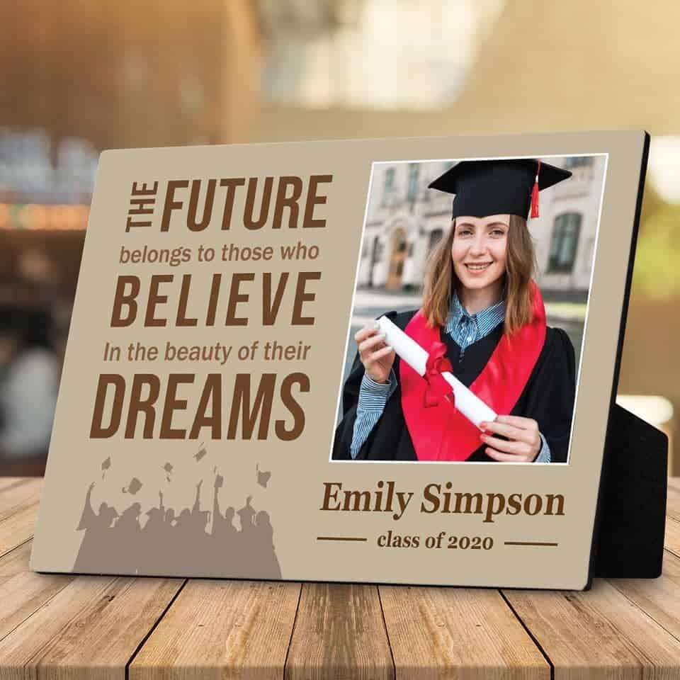 Graduation Photo Desktop Plaque - ideas for graduation gift