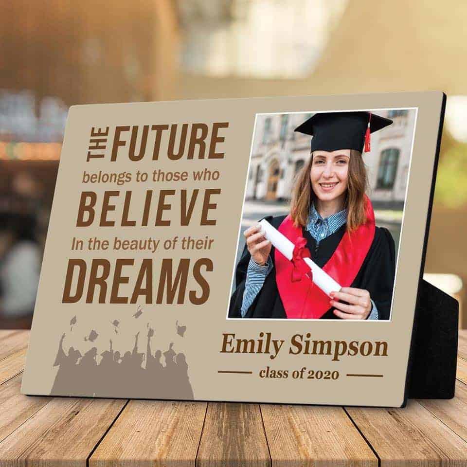 Graduation Photo Desktop Plaque - gifts for medical school graduates