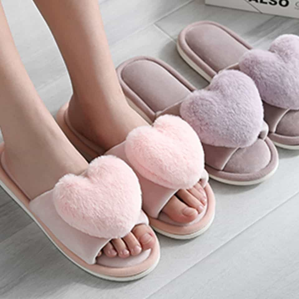 Heart Slippers - valentines day surprises