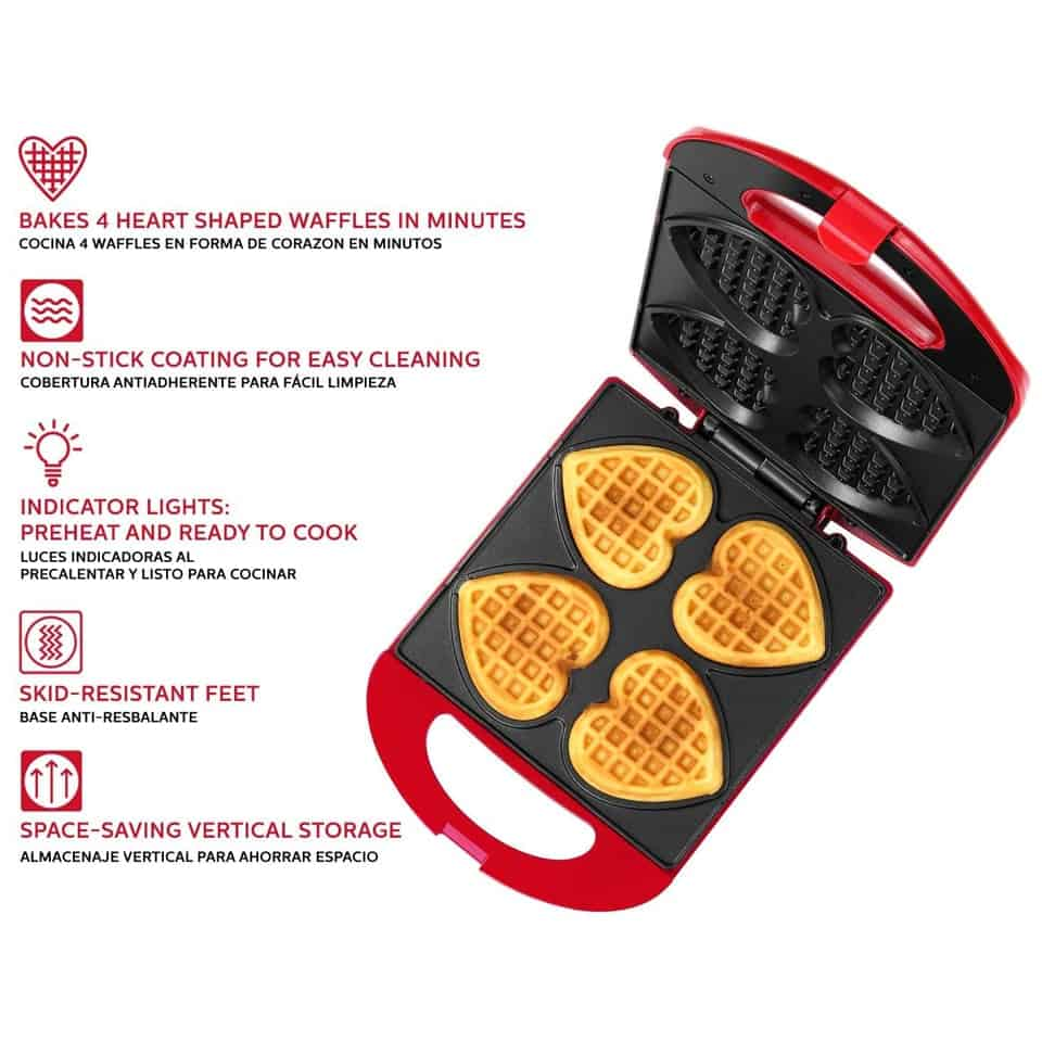 Heart Waffle Maker - valentines day surprises