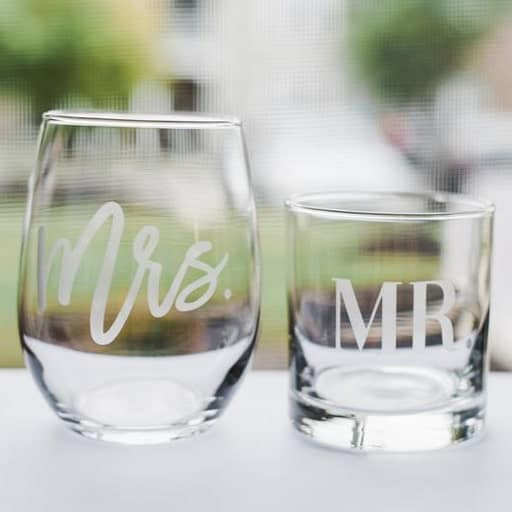 His & Hers Glasses - inexpensive valentine gift for him