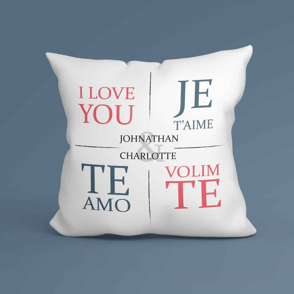 I Love You In Different Languages Personalized Pillow Gift For Boyfriend First Valentine's Day