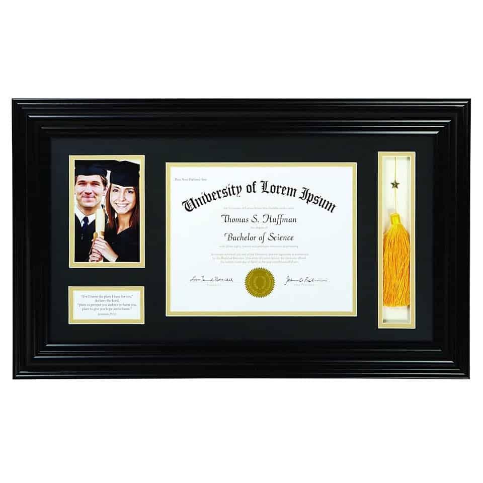Keepsake Diploma and Photo Frame - girl's graduation gift ideas