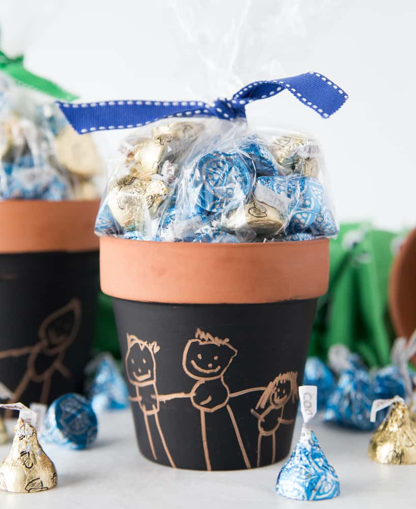DIY art candy pot for father from daughter