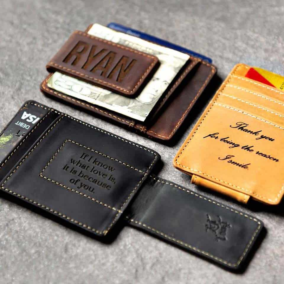 Leather Magnetic Money Clip