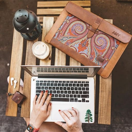 Leather Sleeve Bag for MacBook - gifts for graduates