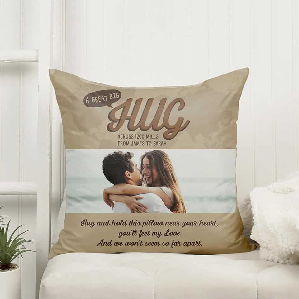 Long Distance Photo Pillow - valentines gifts