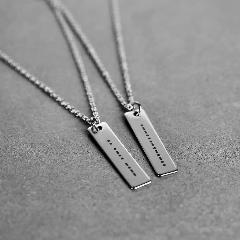Morse Code Necklace First valentines Gifts For Boyfriend