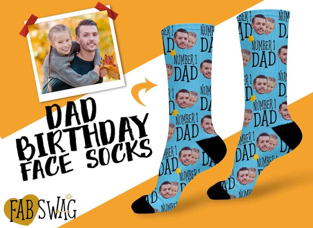 Number 1 Dad Birthday Socks From Daughter To Dad