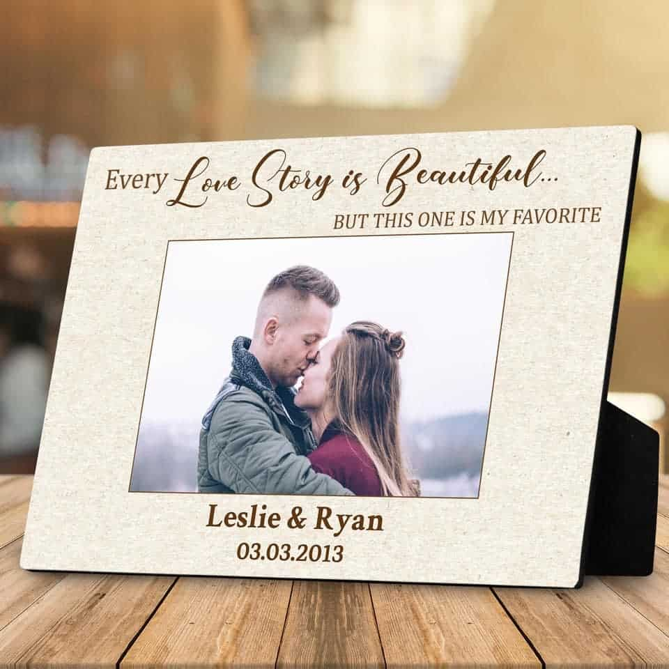 Our Love Story Custom Photo Plaque - valentine day ideas