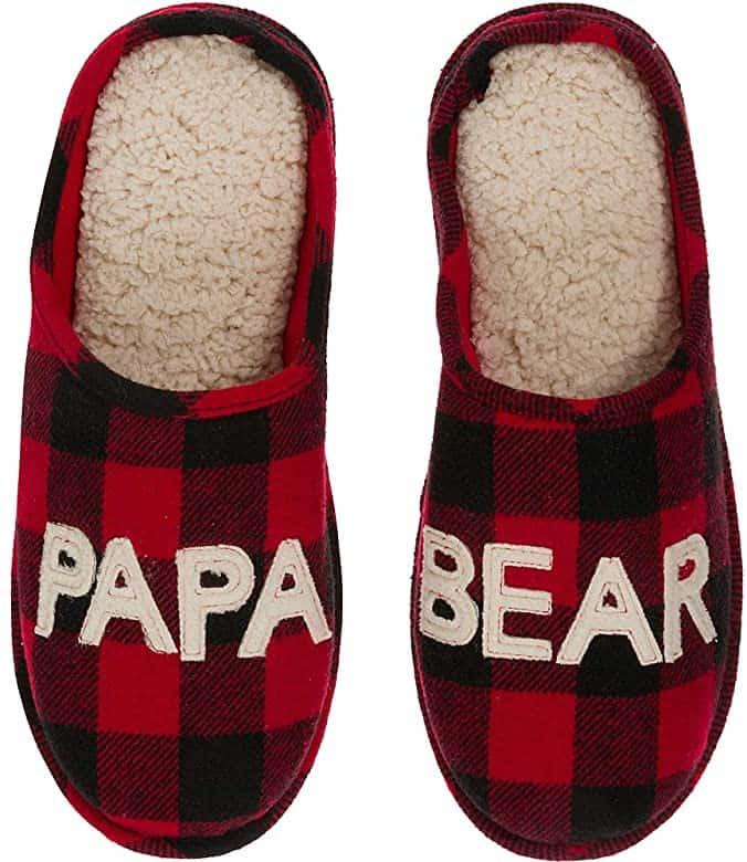 Papa Bear Slipper - Gift For Dad from daughter