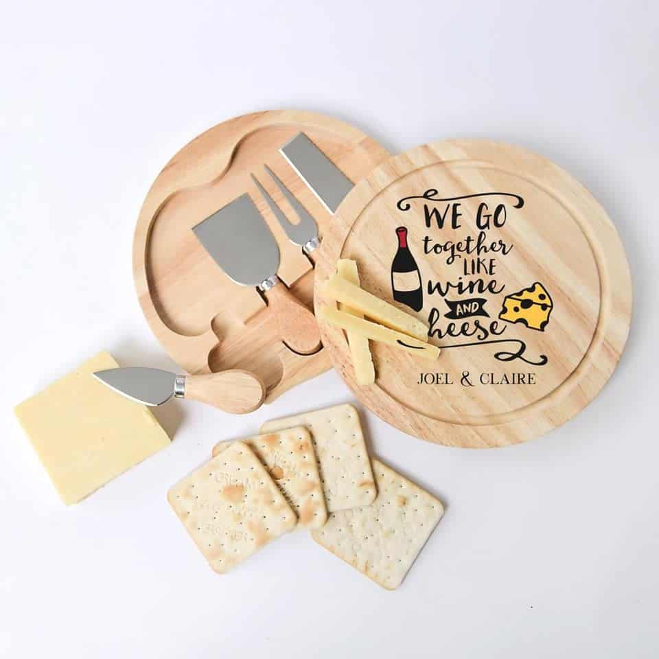 Personalized Cheese Board - valentine day ideas
