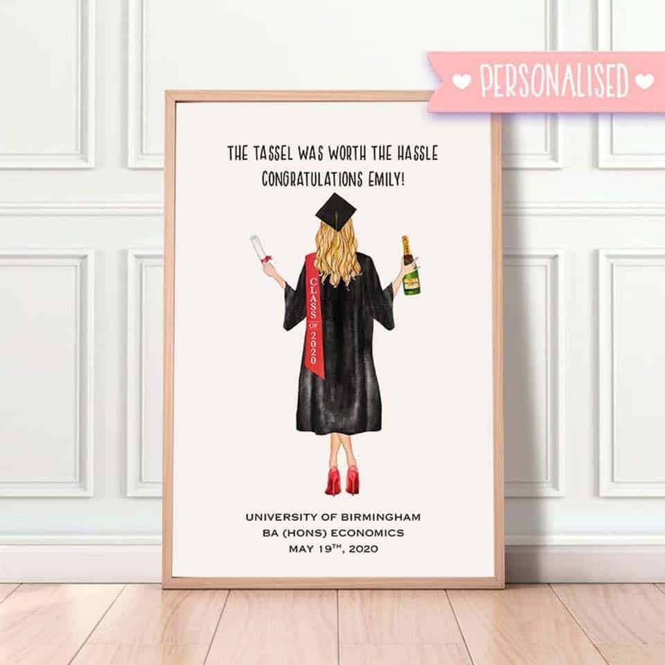 Personalized Graduation Print - graduation presents for her