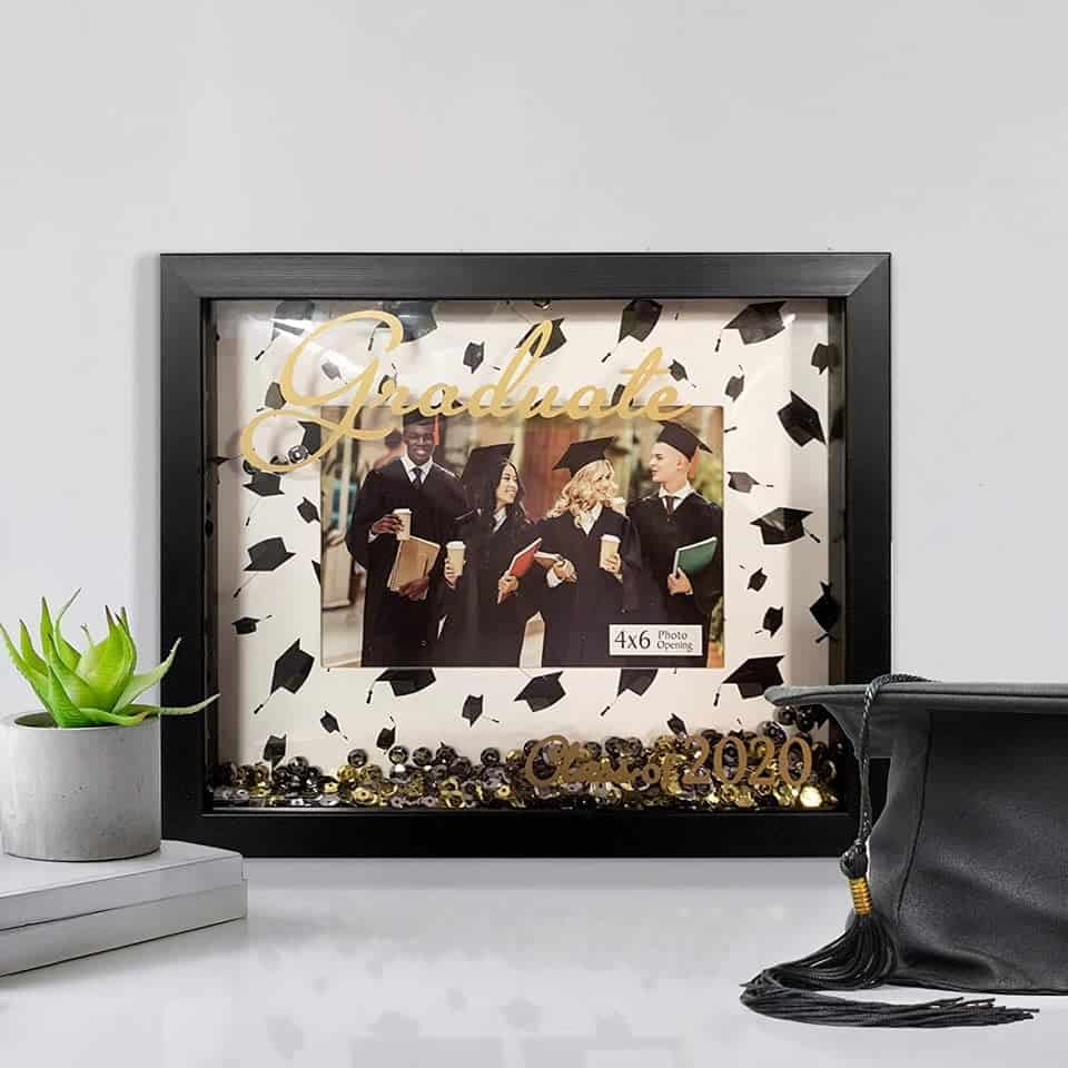 Shadowbox Picture Frame - female graduation gifts