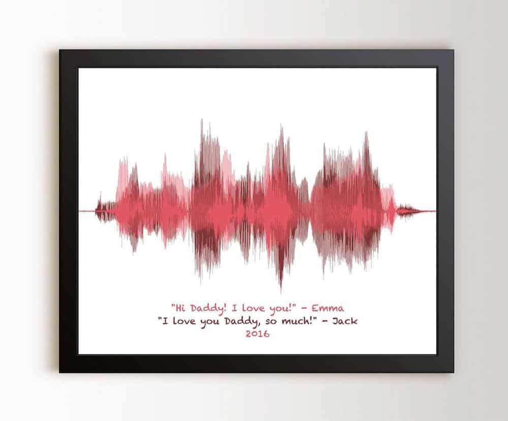 Sound Wave Art Custom Print Dad Gift from Daughter