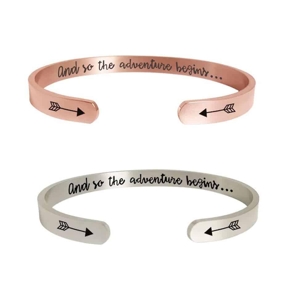 The Adventure Begins Bracelet - unique graduation gifts