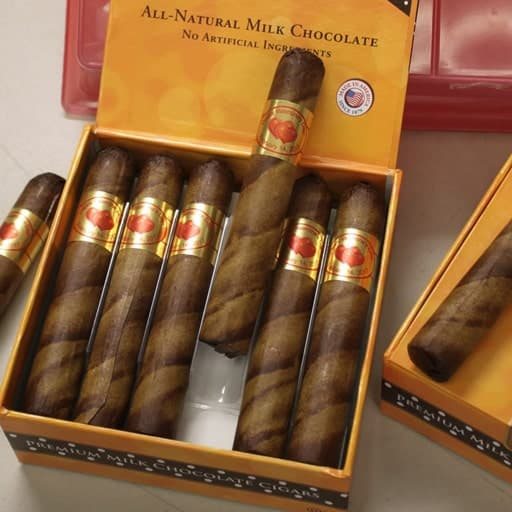 Valentine's Chocolate Cigars - affordable valentines gift ideas for guys