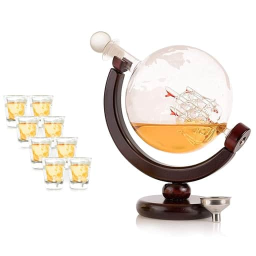 Whiskey Decanter Globe - affordable valentines gift ideas for guys