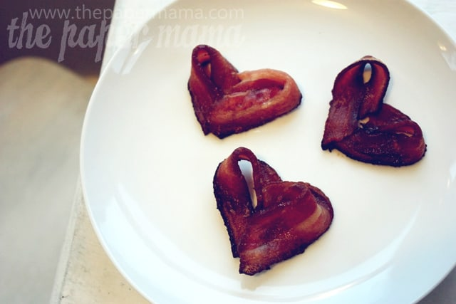 homemade valentines day ideas for him: bacon hearts
