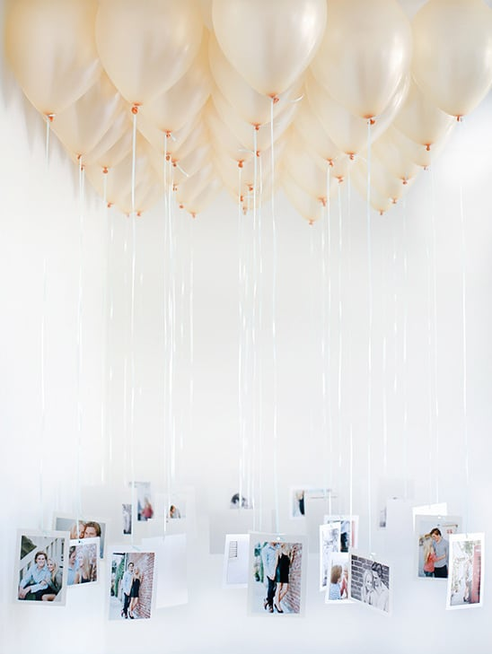 valentine gift for husband homemade: balloon chandelier with photos