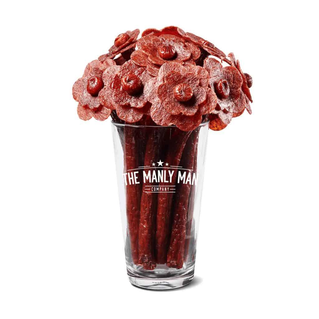 unique valentine's gifts for men: beef jerky bouquet