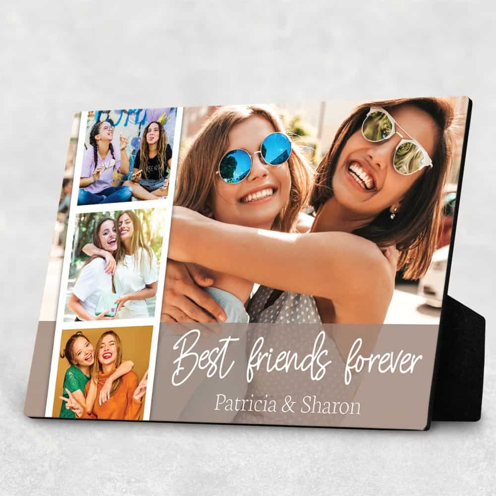 Best Friends Forever Custom Photo Collage Desktop Plaque