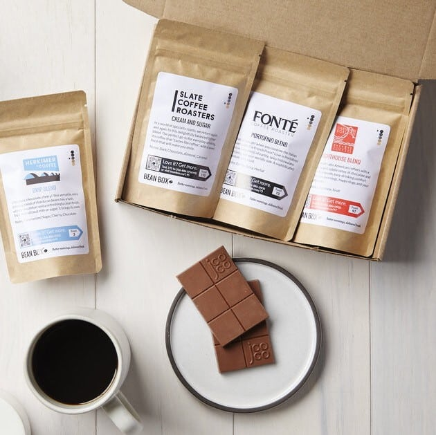 chocolate coffee tasting gift box for him