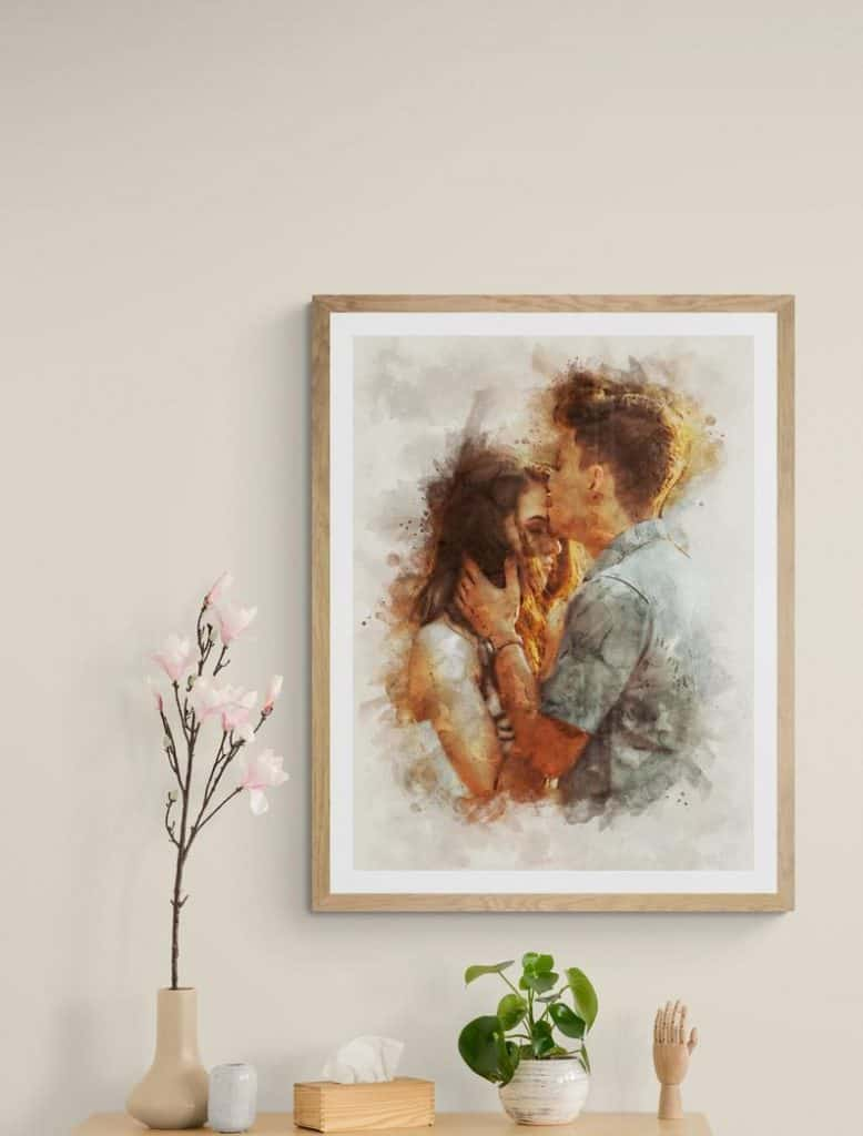 valentines gift ideas: couple  custom portrait