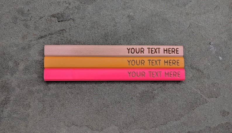 customized valentine gifts: custom carpenter pencils
