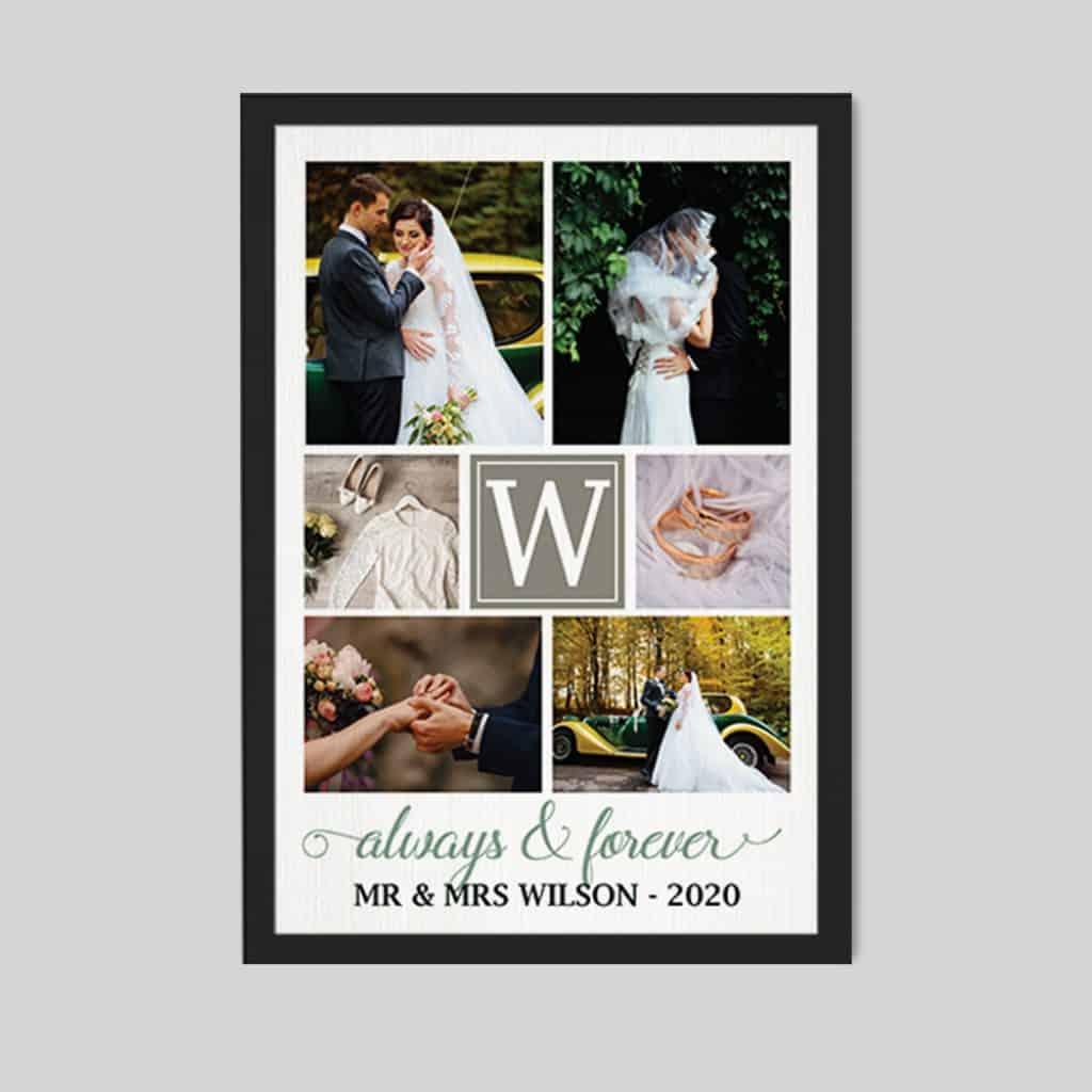husband valentine gifts: photo collage canvas print