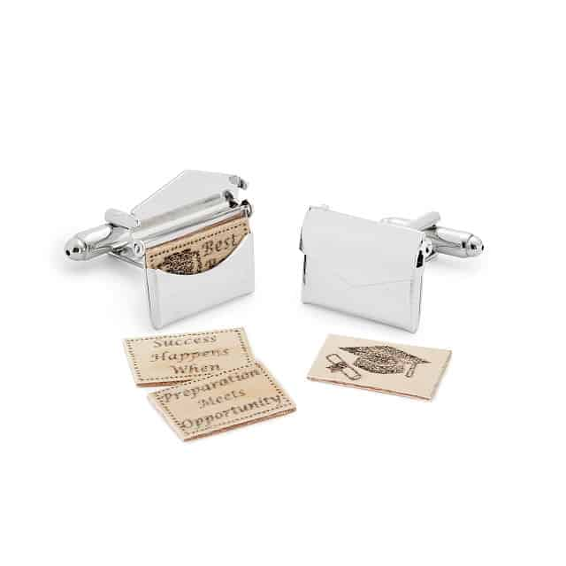 personalized valentines gifts for him: custom love letter cufflinks
