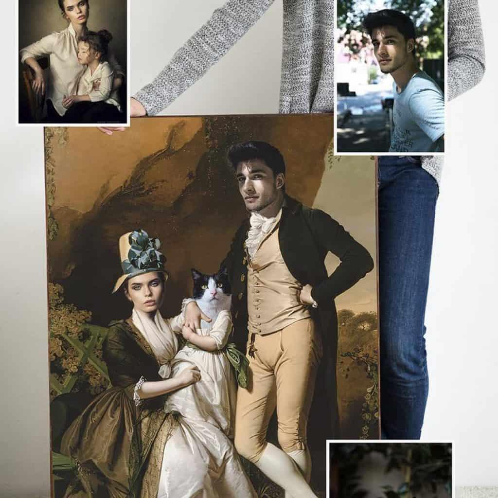 funny valentines gifts: custom renaissance portrait