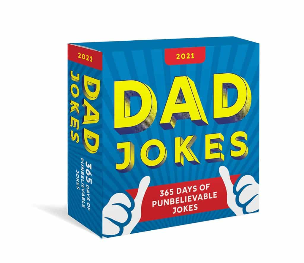 funny gifts for dad: 2021 dad jokes boxed calendar