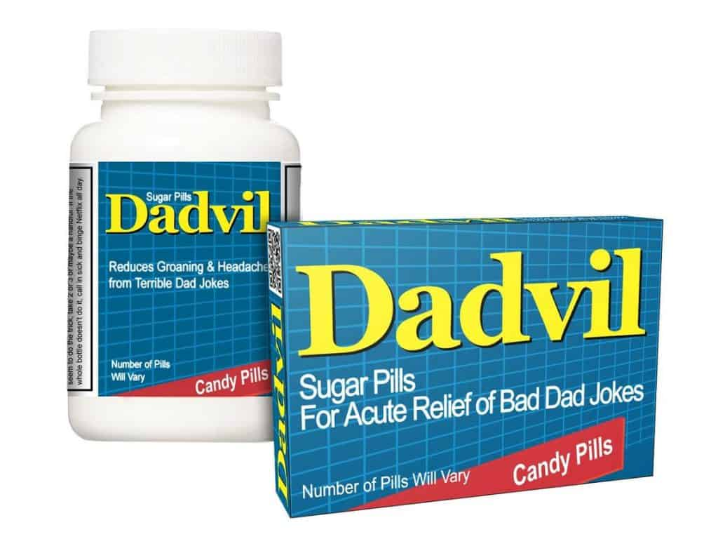 funny gift for dad: dadvil box of candy pills