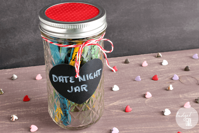 homemade valentines day ideas for him: date night jar