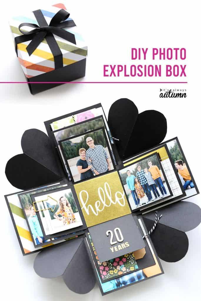 handmade valentine gifts: diy explosion box