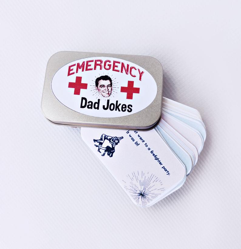 funny dad gifts: emergency dad jokes