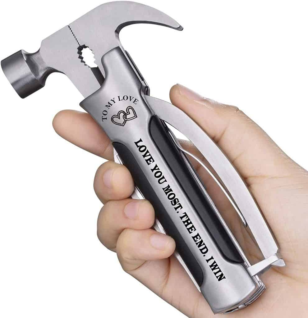 creative valentines gifts for husband: engraved multi-tool hammer