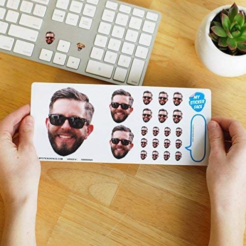 funny custom valentines gifts: custom face stickers