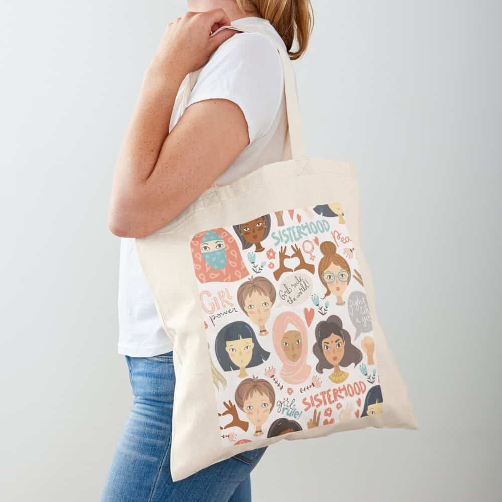 sisterhood tote bag for best friends on galentine's day