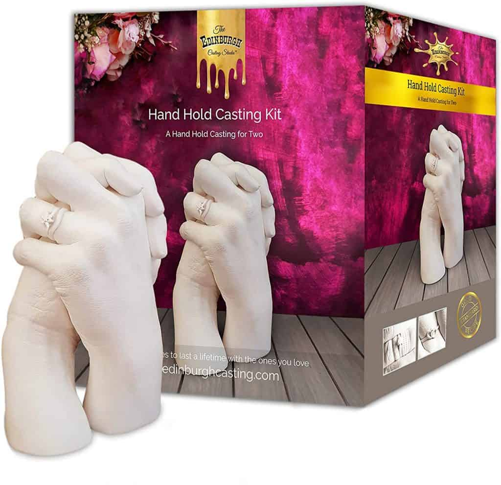valentines gift ideas for husbands: hand holding casting kit