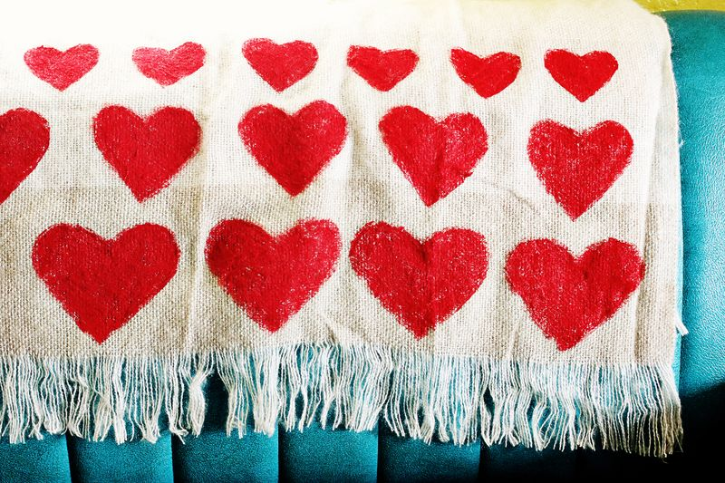 cute valentines day gifts for him: heart blanket