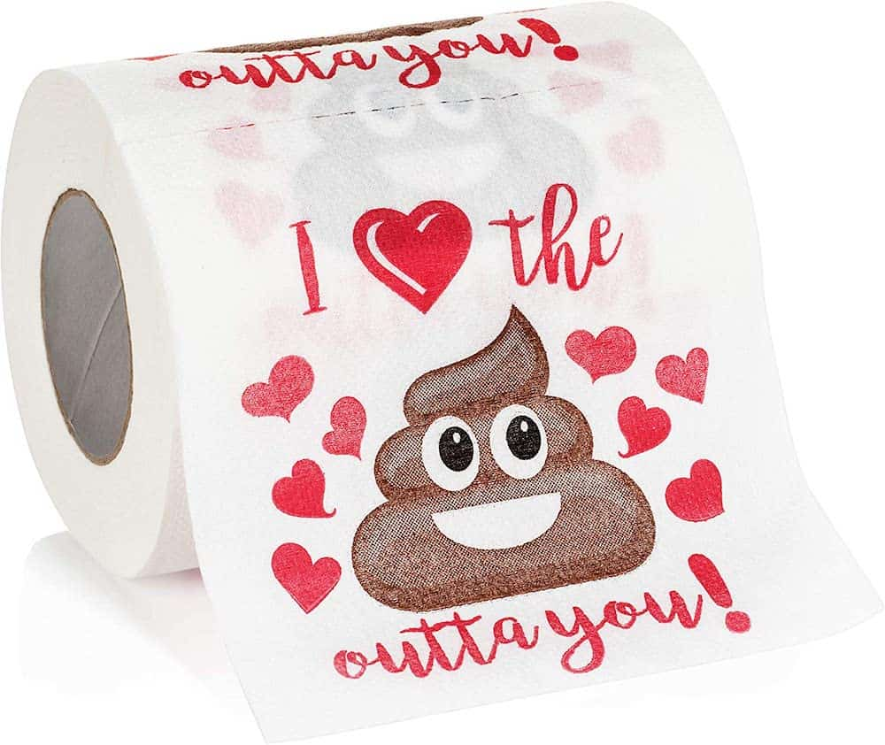 i love the shit outta you novelty toilet paper gag gift for first valentine's day
