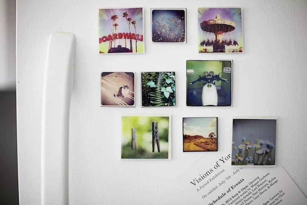 diy valentine's gifts for him: diy photo magnets