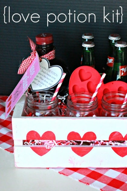 homemade valentines day ideas for him: love potion kit