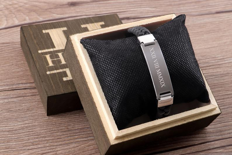 valentine gifts for dads: personalized bracelet