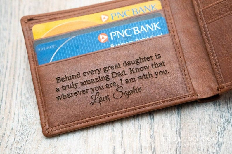 gift for dad: personalized wallet