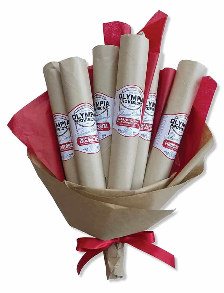 funny gifts for men: salami bouquet